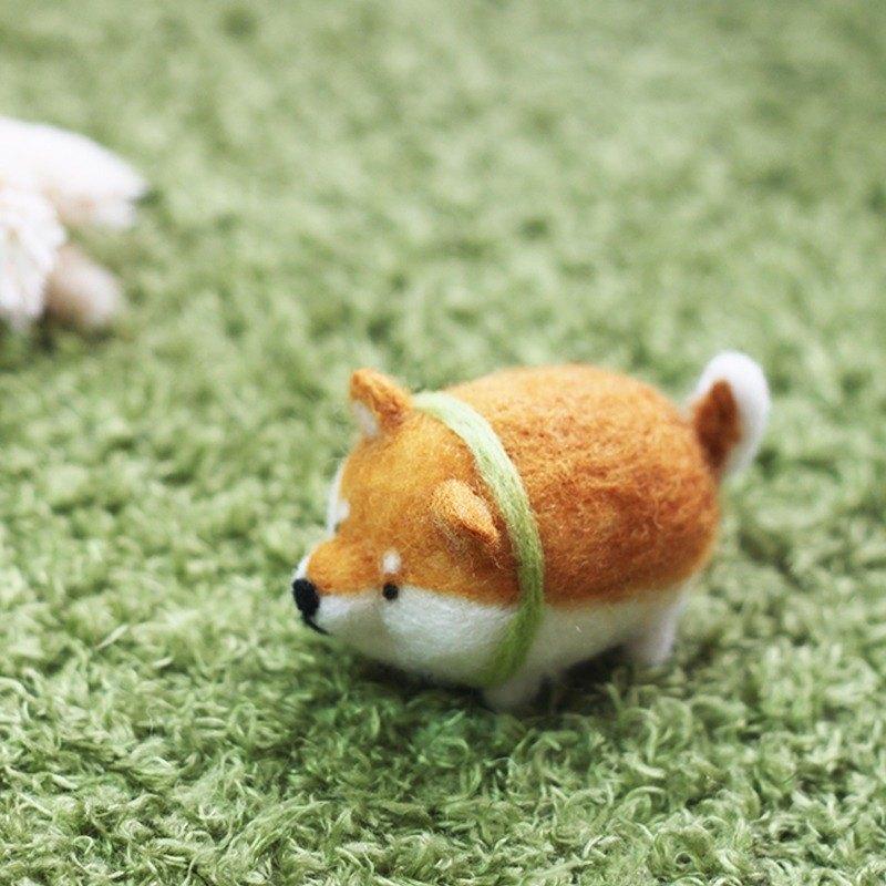 羊毛氈 柴犬
